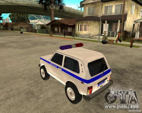 VAZ 2121 Police for GTA San Andreas left view