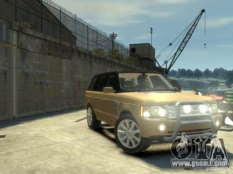 Range Rover Supercharged 2008 for GTA 4 inner view
