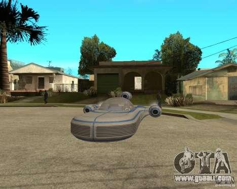 X34 Landspeeder for GTA San Andreas back view