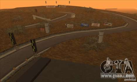The route from NFS Prostreet for GTA San Andreas