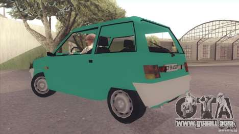 Dacia 500 Lastun for GTA San Andreas back left view