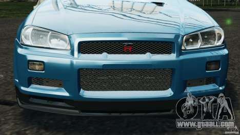 Nissan Skyline GT-R R34 2002 v1.0 for GTA 4 engine