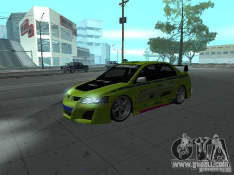 Mitsubishi Lancer Evolution 8 for GTA San Andreas interior