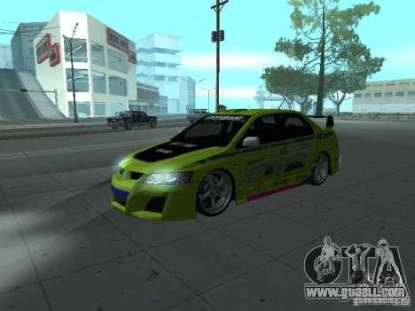 Mitsubishi Lancer Evolution 8 for GTA San Andreas interior