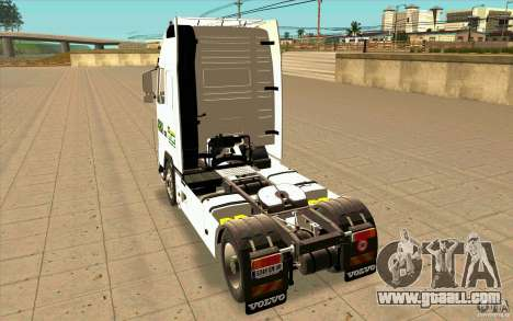 Volvo FH16 Globetrotter STG for GTA San Andreas back left view