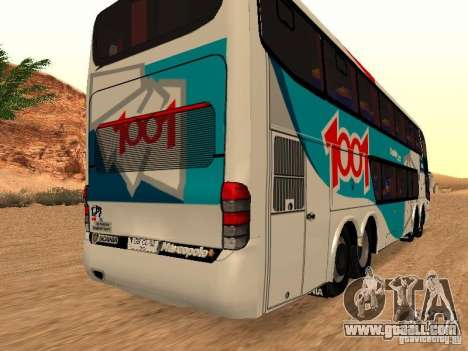 Marcopolo Paradiso 1800 G6 8x2 SCANIA for GTA San Andreas back view