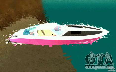 Mamba Speedboat for GTA San Andreas left view