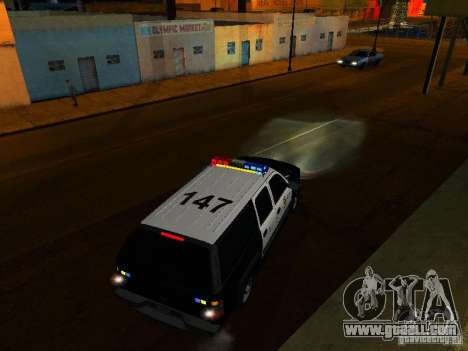 Chevrolet Suburban Los Angeles Police for GTA San Andreas upper view