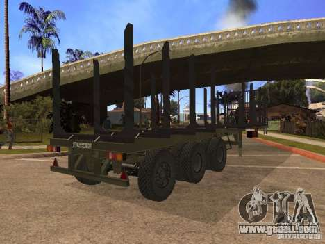 Trailer MAZ 99864 for GTA San Andreas back left view