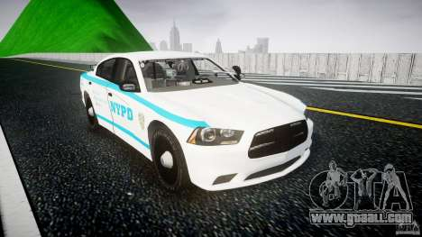 Dodge Charger NYPD 2012 [ELS] for GTA 4 back view