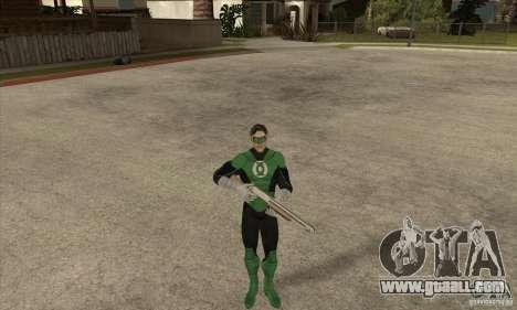 Green Lantern for GTA San Andreas forth screenshot