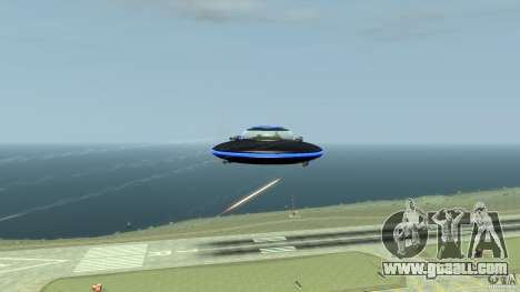UFO neon ufo blue for GTA 4 inner view