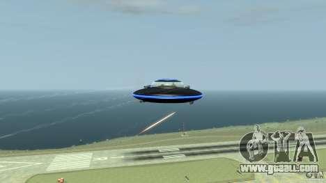UFO neon ufo blue for GTA 4 inner view