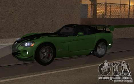 Dodge Viper a little tuning for GTA San Andreas