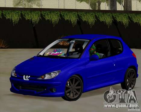 Peugeot 206 pollo style for GTA San Andreas