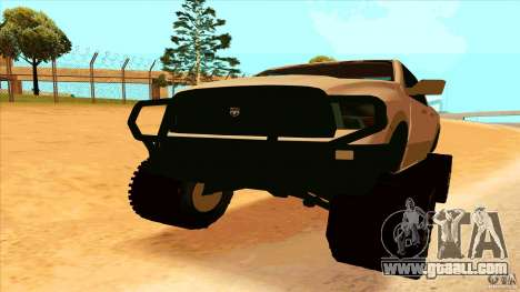 Dodge Ram 2500 4x4 for GTA San Andreas right view