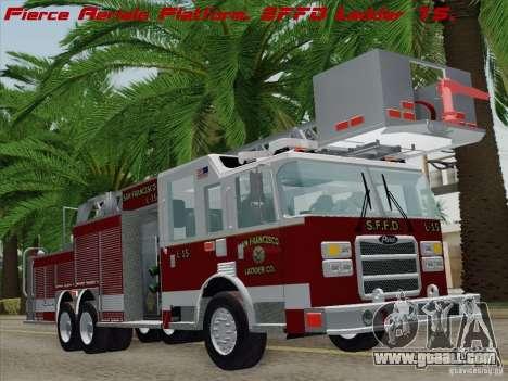 Pierce Aerials Platform. SFFD Ladder 15 for GTA San Andreas