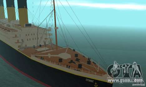 RMS Titanic for GTA San Andreas back view