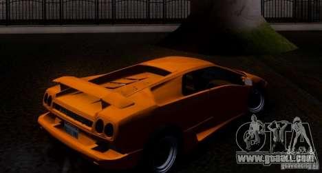 Lamborghini Diablo VTTT Black Revel for GTA San Andreas back view