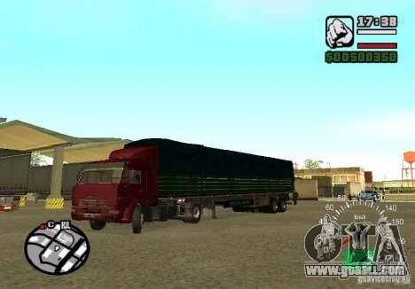Kamaz 5460 for GTA San Andreas back view
