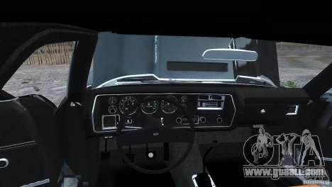 Chevrolet El Camino SS 1970 for GTA 4 back left view