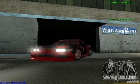 Nissan Silvia S13 Tunable for GTA San Andreas back view