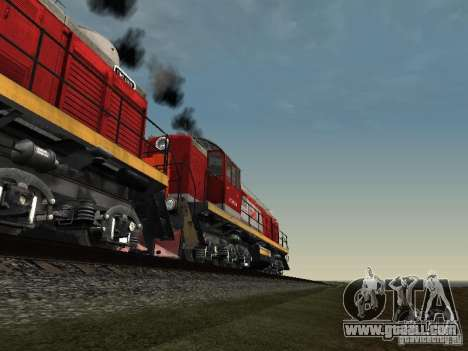 Tem2-6883 RZD for GTA San Andreas bottom view