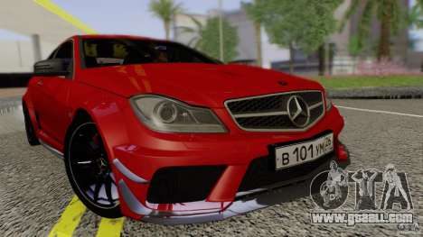 Mercedes Benz C63 AMG Black Series 2012 for GTA San Andreas right view