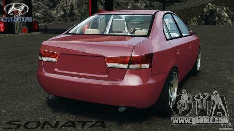 Hyundai Sonata v1.0 for GTA 4 back left view
