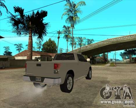 2008 Toyota Tundra for GTA San Andreas back left view