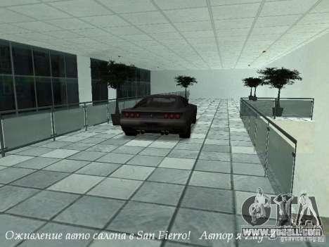 Working showroom in San Fierro v1 for GTA San Andreas third screenshot
