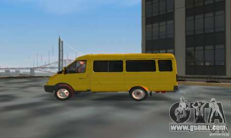 Gazelle 2705 Minibus for GTA San Andreas left view