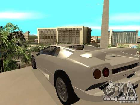 Lamborghini Diablo VT 1995 V2.0 for GTA San Andreas back left view