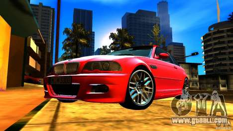 BMW M3 e46 for GTA San Andreas bottom view