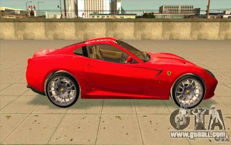 Ferrari 599 GTB Fiorano for GTA San Andreas back view