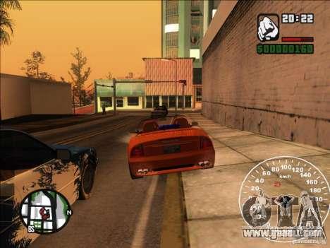 Spyder Cambriocorsa for GTA San Andreas upper view
