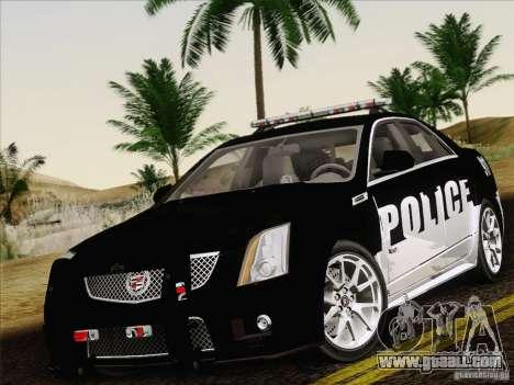 Cadillac CTS-V Police Car for GTA San Andreas side view