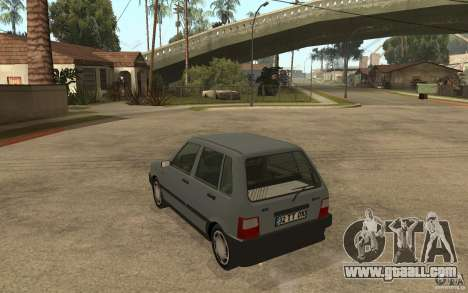 Fiat Uno 70s for GTA San Andreas back left view