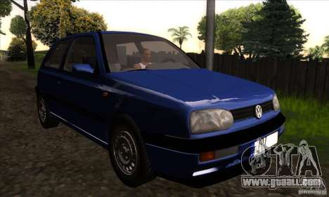 Volkswagen Golf 3 for GTA San Andreas back view