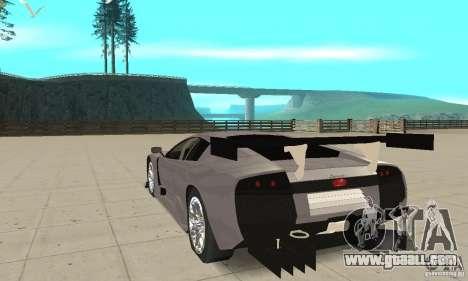 Lamborghini Murcielago R GT for GTA San Andreas back left view