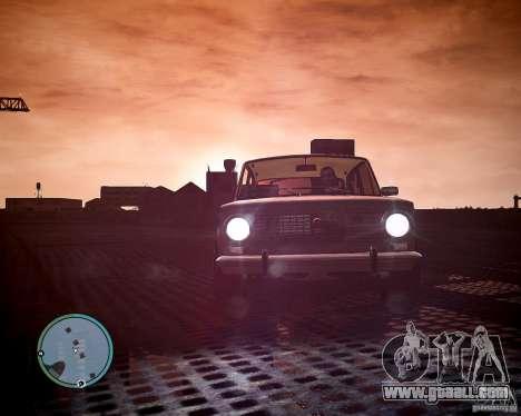 VAZ 2101 1972 Tun for GTA 4 back left view
