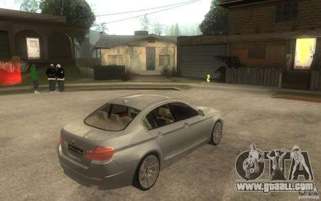 BMW 550i F10 for GTA San Andreas right view