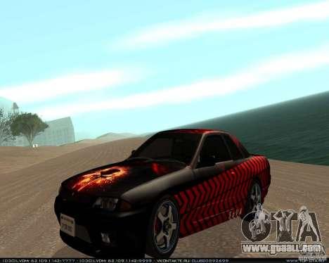 Nissan Skyline R32 GT-R + 3 vinyl for GTA San Andreas
