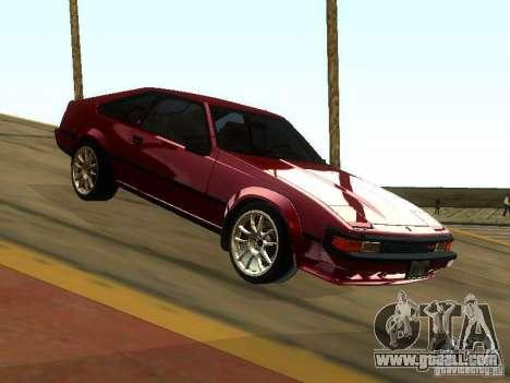 Toyota Celica Supra for GTA San Andreas back view