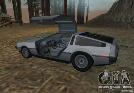 DeLorean DMC-12 for GTA San Andreas back left view