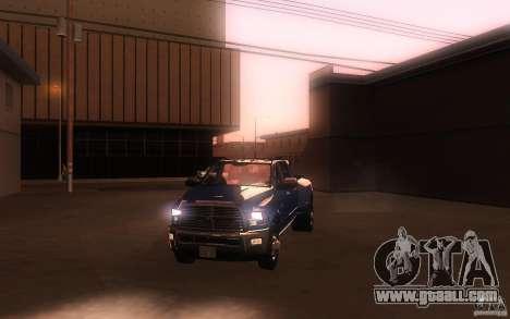 Dodge Ram 3500 Laramie 2010 for GTA San Andreas upper view