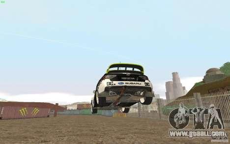 Subaru Impreza WRX Gymkhana2 Beta for GTA San Andreas back left view