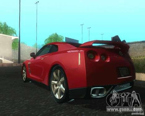 Nissan GTR R35 Spec-V 2010 Stock Wheels for GTA San Andreas back left view