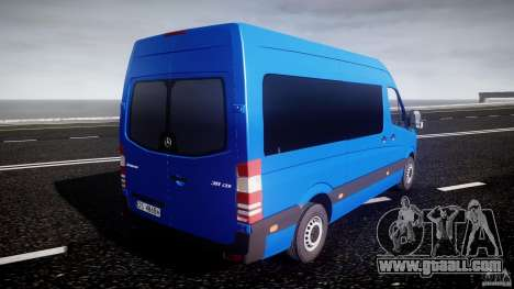 Mercedes-Benz ASM Sprinter Ambulance for GTA 4 upper view