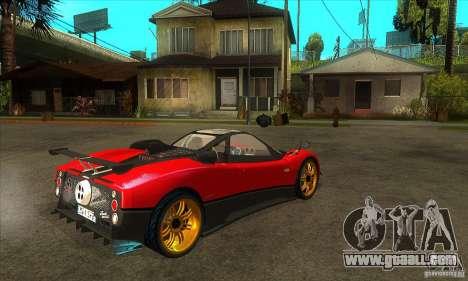 Pagani Zonda Tricolore V1 for GTA San Andreas right view